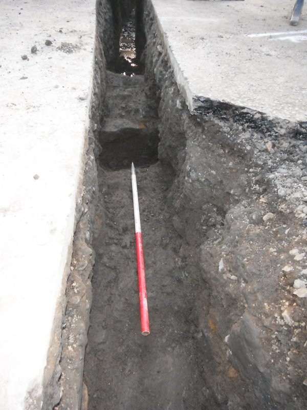 Watching brief, Stone capping (013) of covered drain (020), Lauriston Castle, Edinburgh