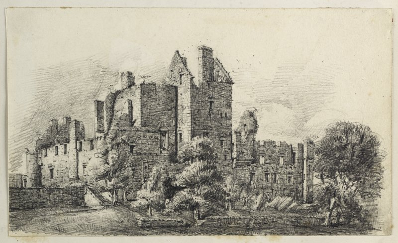 Drawing of Craigmillar Castle.