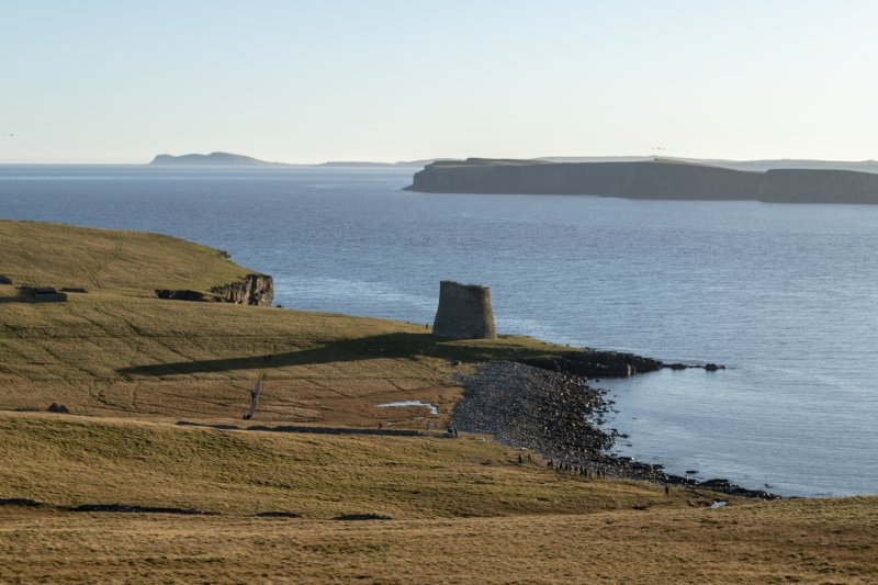 General view of Mousa broch, looking S