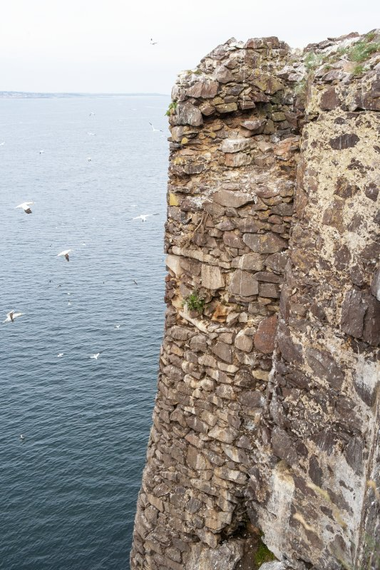 Detail of castle wall taken from the east.