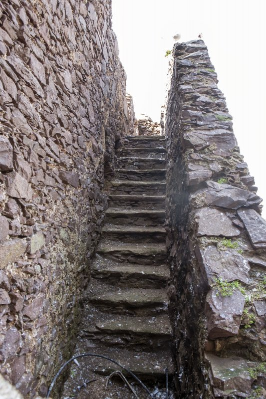 Detail of steps within castle wall.
