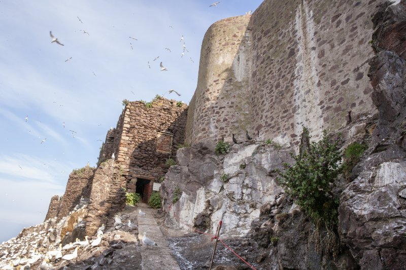 General view of castle entrance taken from the east.