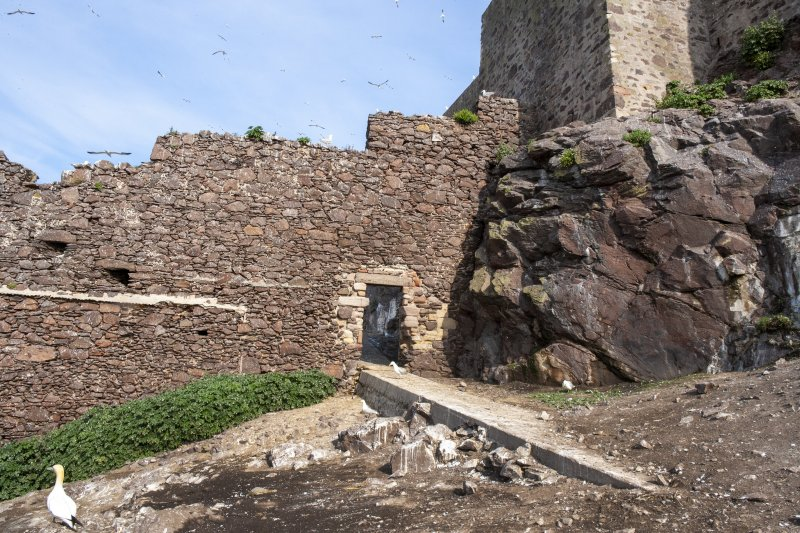 General view of castle wall taken from the east.