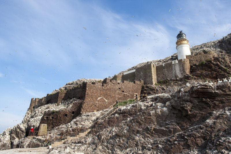 General view of castle and lighthouse taken from the south east.