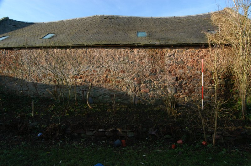 Standing building recording, Consecutive overlapping shots of the E-facing elevation, Polwarth Crofts, Scottish Borders