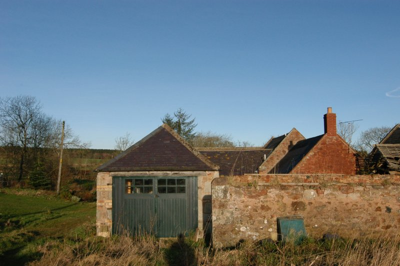 Standing building survey, Consecutive overlapping shots of the S enclosure wall and gable, Polwarth Crofts, Scottish Borders
