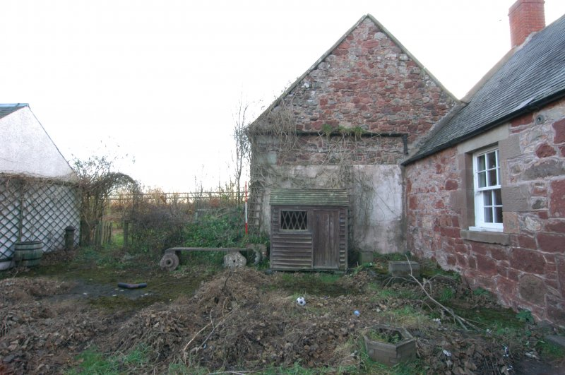 Standing building survey, General shots of the N gable, Polwarth Crofts, Scottish Borders