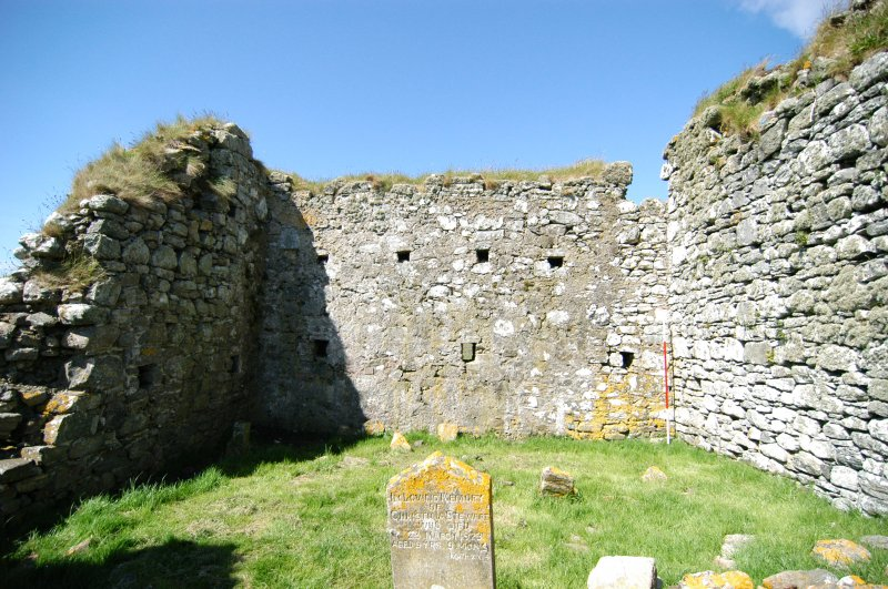 Historic building survey, Church interior, E-facing elevation, Teampull na Trionaid, Cairinis, North Uist, Western Isles
