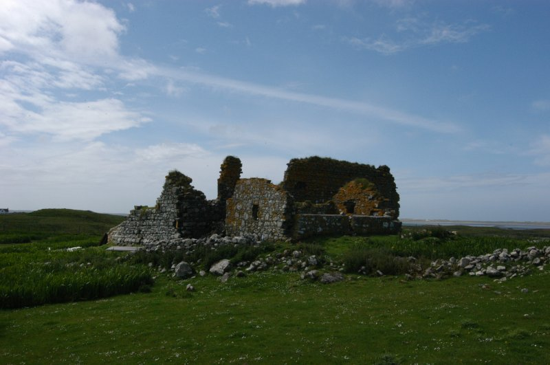 Historic building survey, Teampull Na Trionaid from the NE, topographical view, Teampull na Trionaid, Cairinis, North Uist, Western Isles