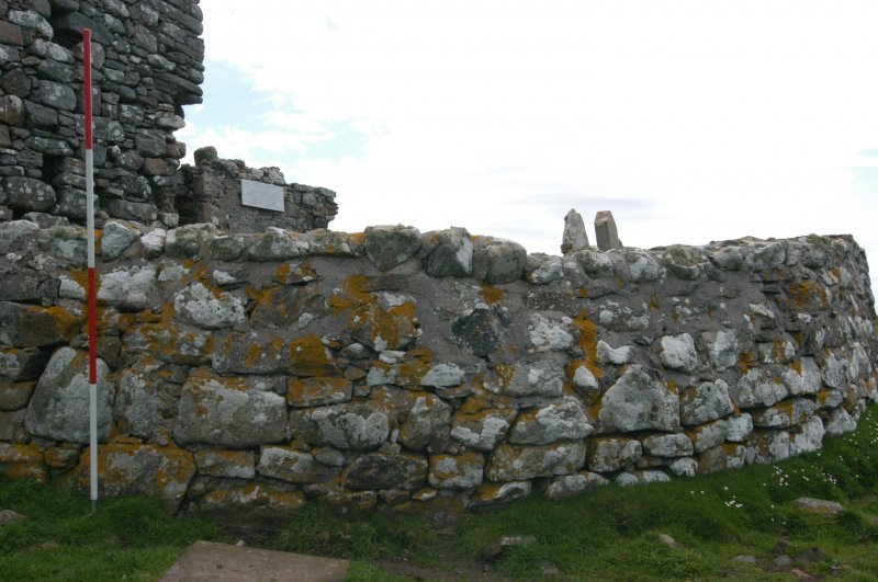 Historic building survey, Churchyard boundary wall, exterior consecutive shots, Teampull na Trionaid, Cairinis, North Uist, Western Isles