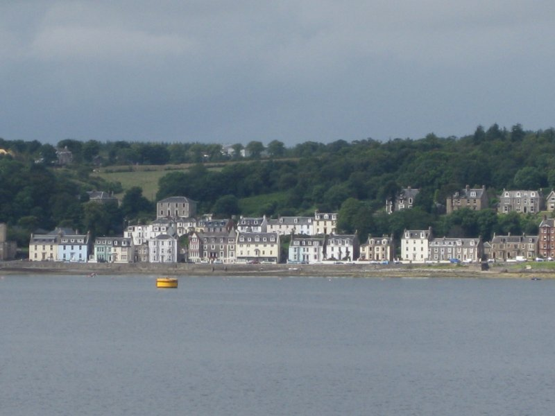 General view from east showing Argyle Place, Rothesay, Bute.