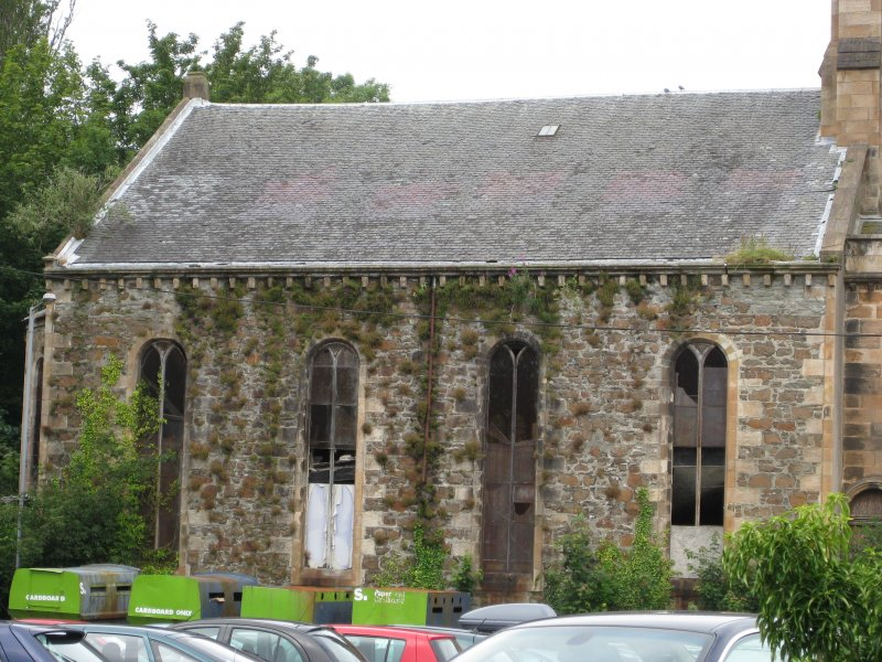 View of south-west elevation of West Free Church, Argyle Street, Rothesay, Bute.