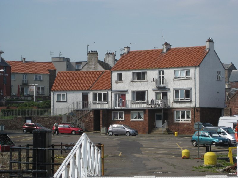View from north-east showing Victoria Place, Dunbar.