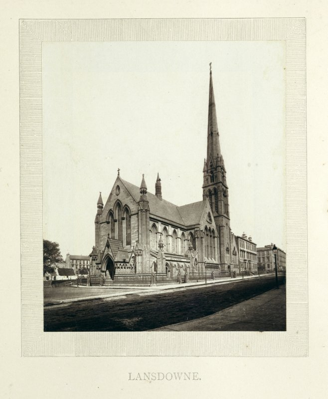 Photograph of Lansdowne United Presbyterian Church, Glasgow.