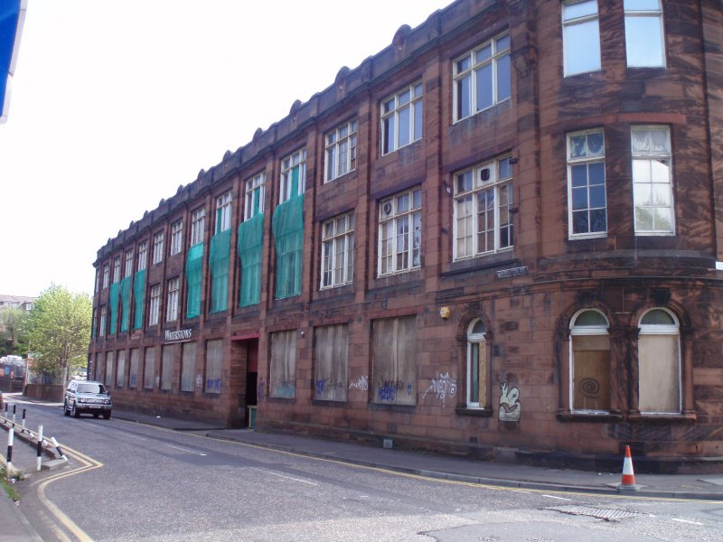 Historic building recording, External view, Waterston's Logie Green Printing Works, Edinburgh