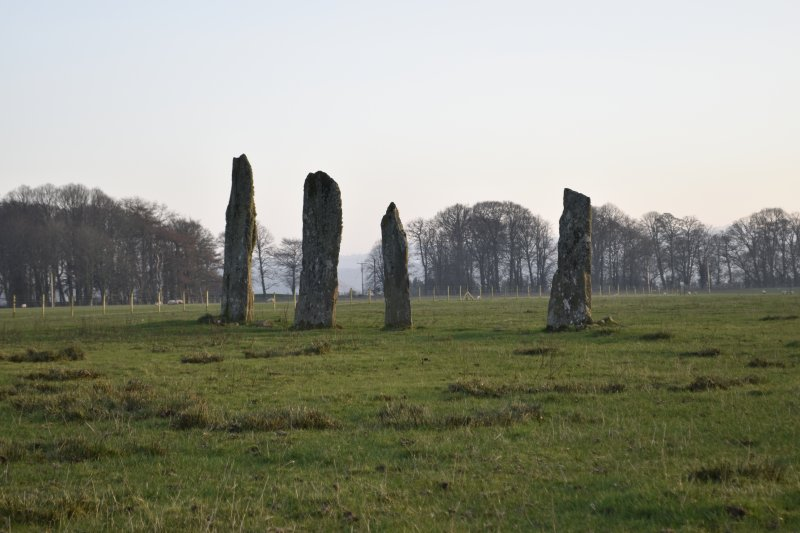 General view of the standing stones at Ballymeanoch