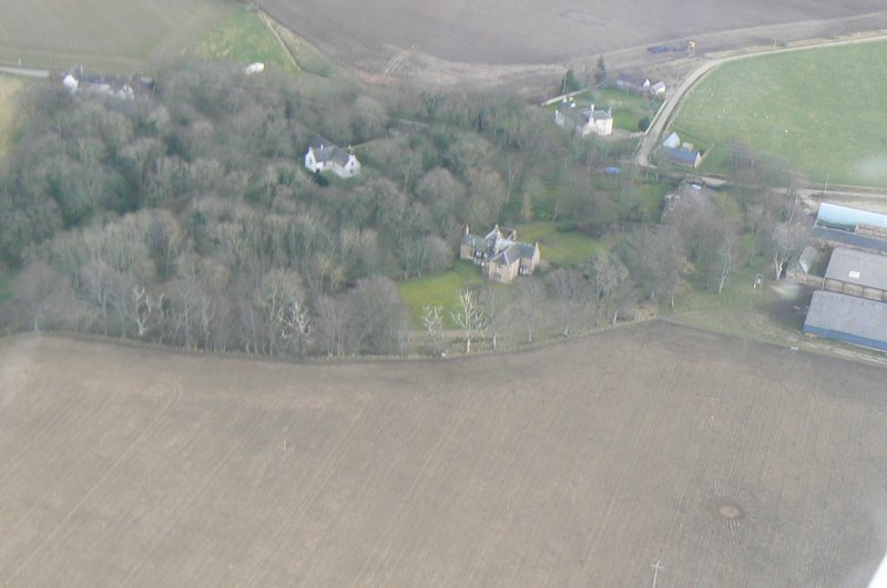 Aerial view of Nigg House, Tarbat Peninsula, looking E.