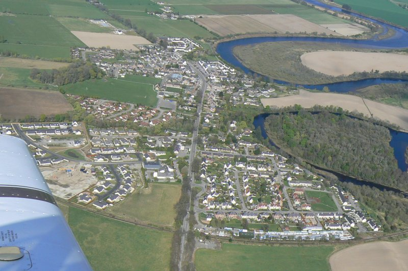 General oblique aerial view of Beauly, looking NE.