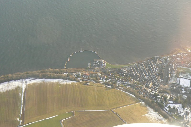 An oblique aerial view of Avoch, Black Isle, looking SSE.