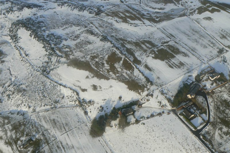 Aerial view of Heights of Brae, near Dingwall, Easter Ross, looking N.