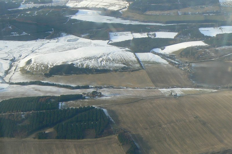 Aerial view of Blackhill Farm, near Evanton, Easter Ross, looking NW.