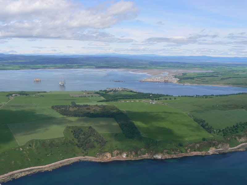 Aerial view of Navity, Cromarty, Black Isle, looking NNW.