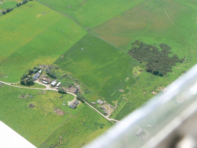 Aerial view of Drumancroy Farm, Tarbat Ness, looking SW.