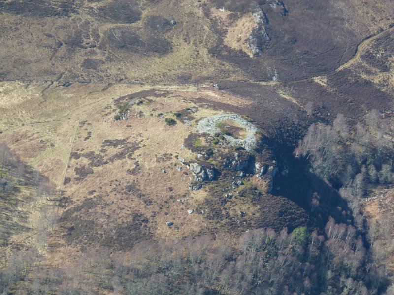 An oblique aerial view of Dun Mor, Breakachy, Kilmorack, looking SW.