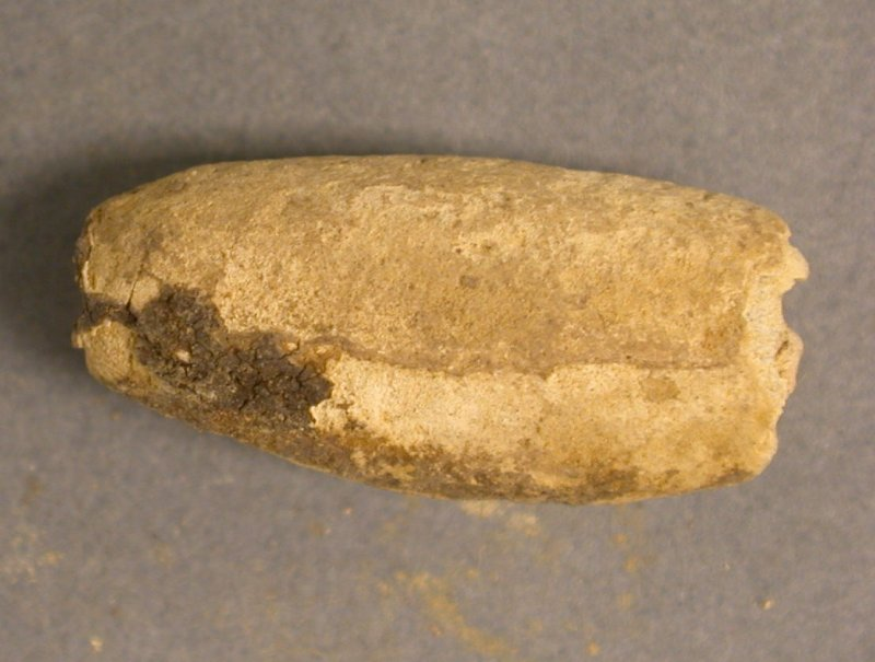 Post excavation, Lead bead [SF19.3], Carghidown Castle