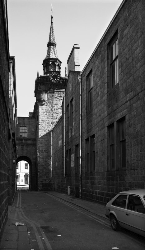 Aberdeen, Castle Street, Municipal Buildings, Tolbooth Tower. General view of tower from North.