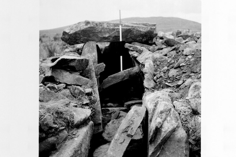 Excavation photograph - passage and chamber from the south-east.