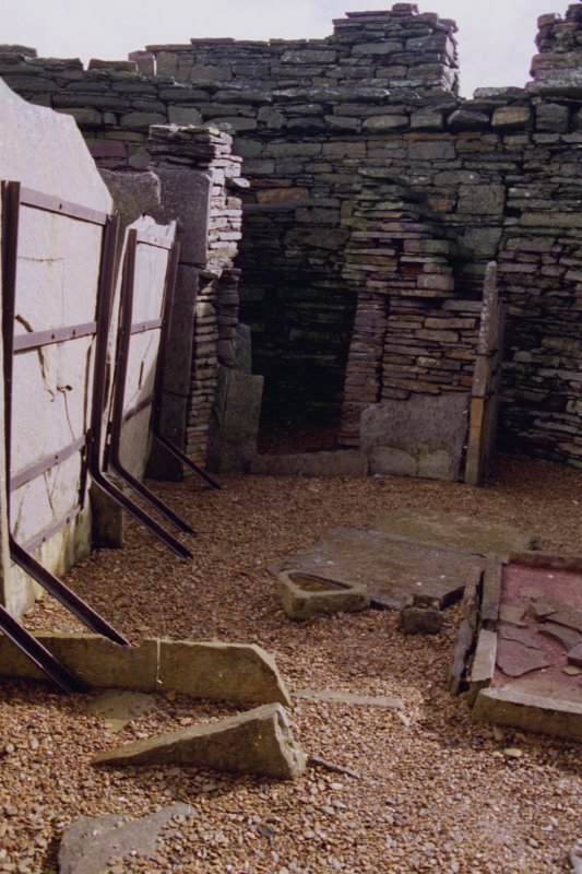 View of the interior of Midhowe, broch.