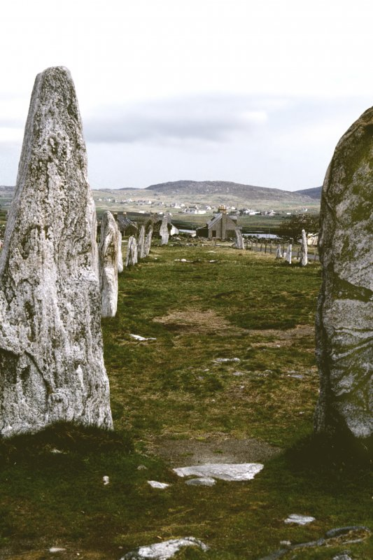 Avenue from chambered cairn looking N