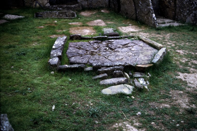 Hearth in broch interior.