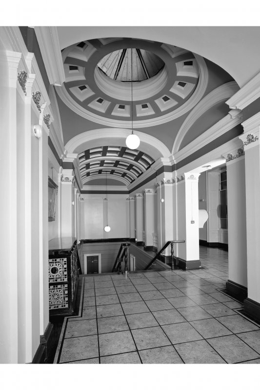 Interior - main staircase, landing, view from south west