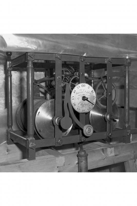 Detail of clock mechanism