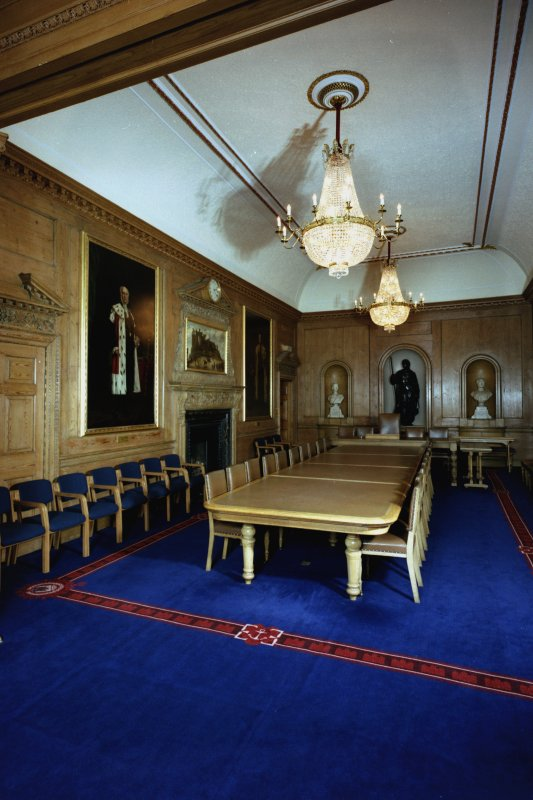 Interior-view of Old Council Chamber on First Floor from west