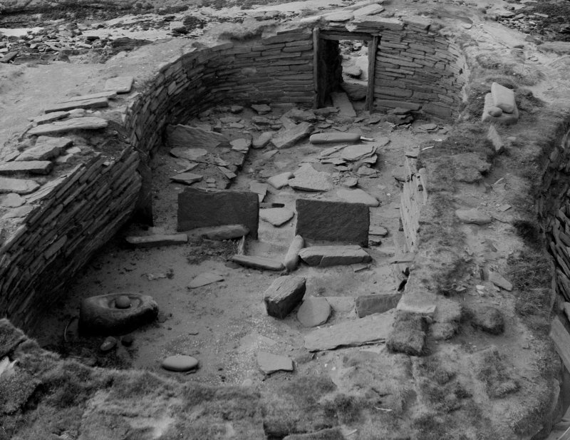 Excavation photograph: House 1, general view of interior from E.