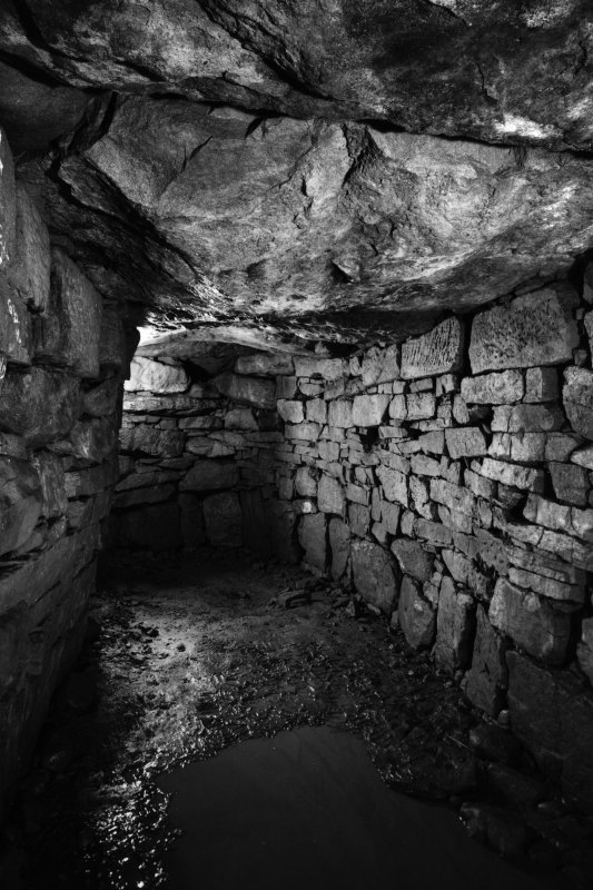 Interior view - east end of souterrain.
