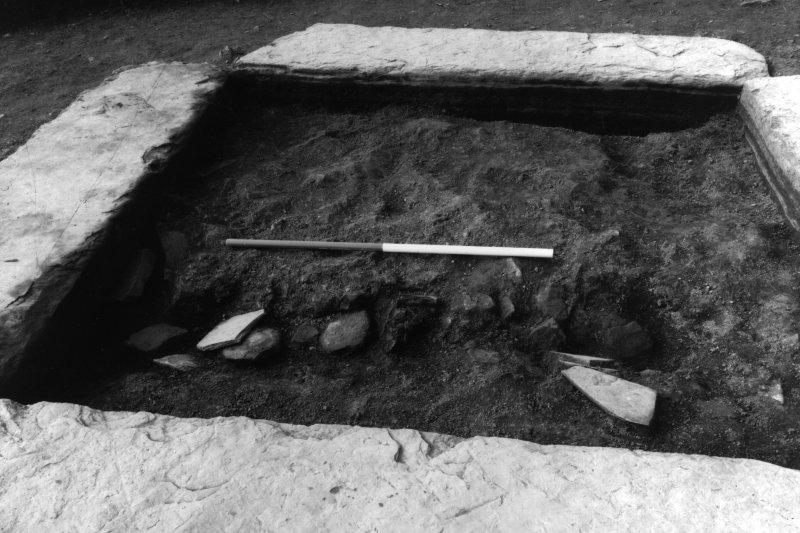Excavation photograph showing the central setting from the east.