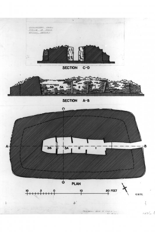 Plan and sections of broch.  Inventory fig 296.