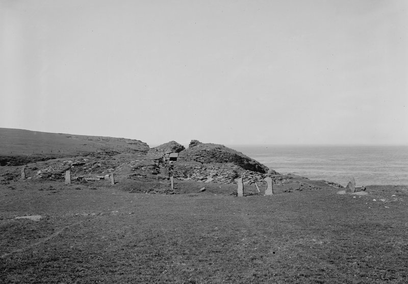 View towards broch from landward side.