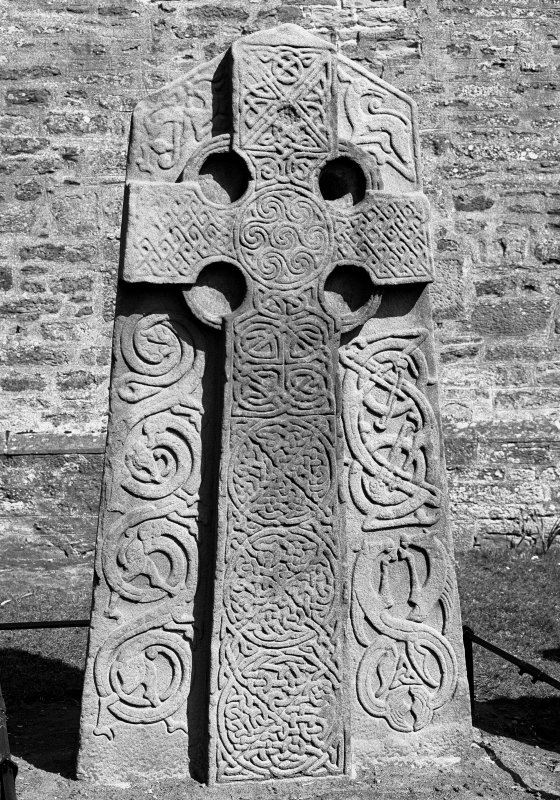View of cross face of Aberlemno no 2, the Churchyard Stone.