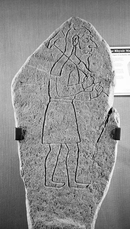 Rhynie Pictish symbol stone.  Barflat (Front face)