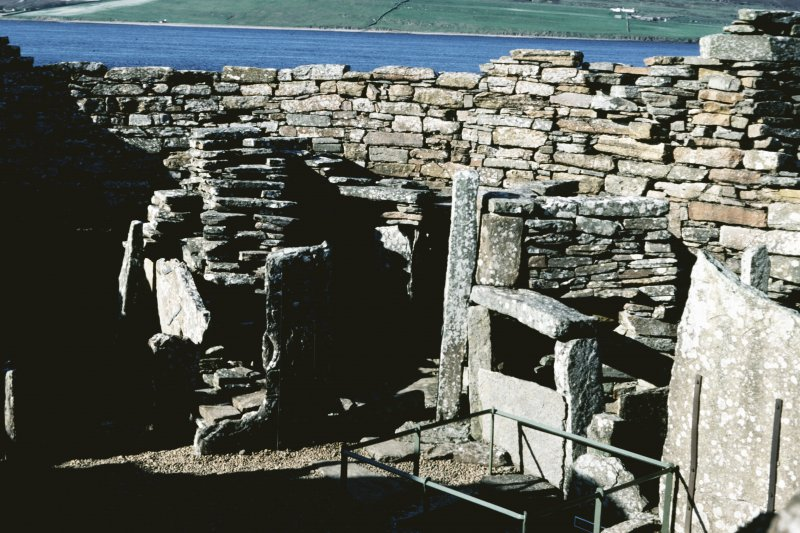 View of broch internal compartments.
