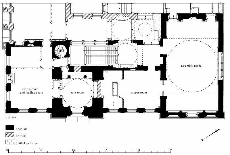 First-floor plan Preparatory drawing for 'Tolbooths and Town-Houses', RCAHMS, 1996.