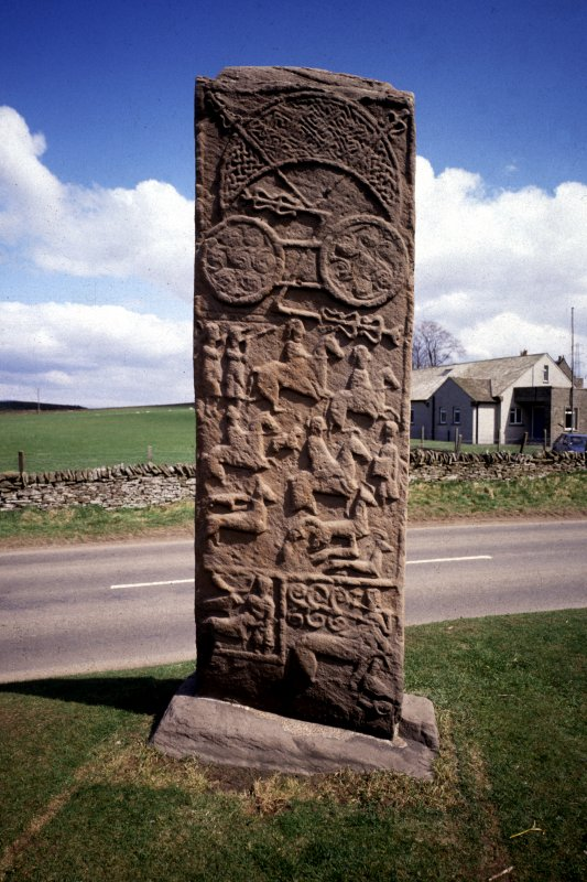 Aberlemno no 3, the Roadside cross-slab. View of reverse.