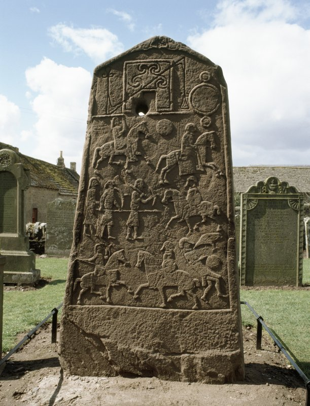 Aberlemno Pictish cross-slab symbol stone.