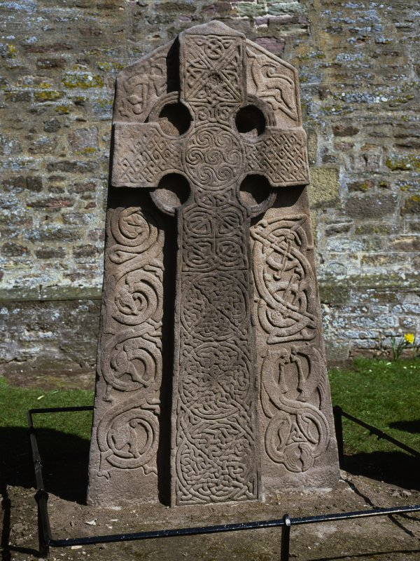 Aberlemno no 2, the Churchyard Stone. View of face of cross-slab.