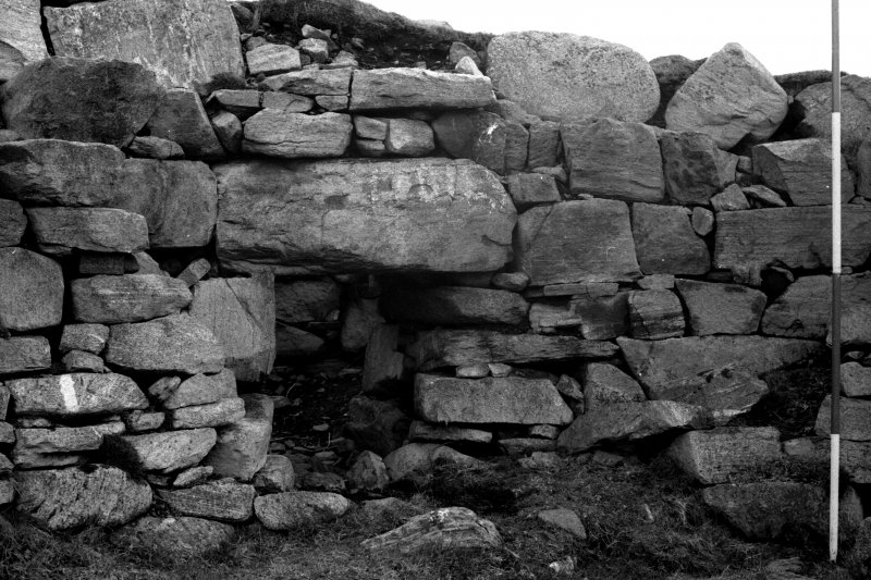 Broch, door 3, showing west side-wall.